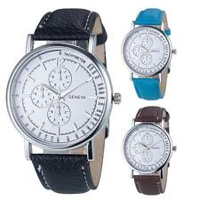 New Geneva Women Fashion Diamond Analog Quartz Faux Leather Wrist Watch Watches