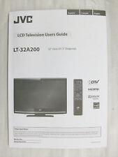 Original User Manual for JVC LT-32A200 TV (New)