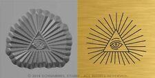 #M09 ALL SEEING Cabal EYE of GOD Egyptian HAND STAMP Horus Illuminati Pyramid