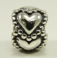 Authentic Pandora Sterling Silver Everlasting Love Charm Bead Hearts #790448 ALE