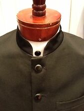 Rare Unique Mens Nehru Chinese Mandarin Priest Collar Long Tuxedo Jacket