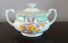 Antique Grindley England Cream Petal Sugar Bowl w/ Lid Daisy No 2