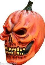 Deluxe Halloween Aterrador Mal Calabaza Naranja Fancy Dress Costume Horror Máscara De Látex