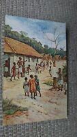 Child Life Series - Africa Congo - A Village Scene Postcard