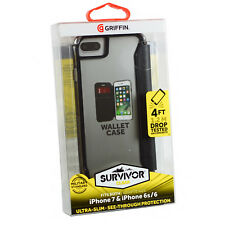 Griffin Survivor Clear Wallet Case for iPhone 7 - Black