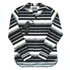 NWT $1k+ Dolce & Gabbana Mens Shadow Stripe Hawaiian Button Down Shirt AUTHENTIC