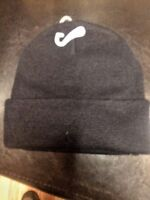 BLACK  Knit  Beenie Hat ONE SIZE FITS ALL MEN OR WOMEN NEW