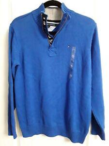 Boys Tommy Hilfiger 1/4 Zip Sweater- Size Youth XL - Blue