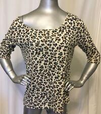 MinkPink Cheetah Print Top Size M