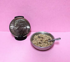Dollhouse Miniature Chocolate Chip Cookie Dough with Spoon 1:12 Holiday Baking