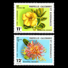 New Caledonia 1980 - Local Flora Flowers - Sc 453/4 Mnh