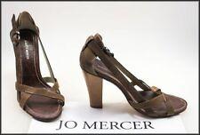 Jo Mercer Leather Open Toe Heels for Women