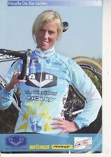 CYCLISME carte cycliste NICOLLE DE BIE LEIJTEN équipe  AVB