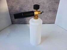 "New Heavy Duty 1/4"" BSP Male Pressure Jet Washer Snow Foam Lance With 1L Bottle"