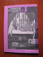 Journal of Church Music- Nov 1970- Be Thou Exalted/ Prayer for Peace/ Come My Wa