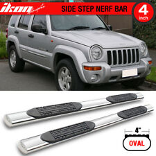 Fits 02-07 Jeep Liberty KJ 4 Inch Stainless Steel Side Steps Running Boards