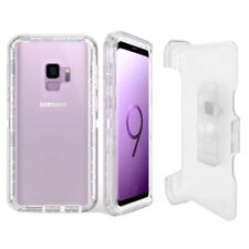 For Samsung Galaxy S9 Defender Case (Works on Otterbox Belt Clip) Clear