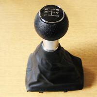 Schaltknauf Knauf 5 Gang + Leder Schaltsack für Audi A4 B6 B7 2000-2008 S4 RS4