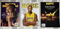 Kobe Bryant Magazine Lot 3 (ESPN, Tribute, Sports Illustrated)
