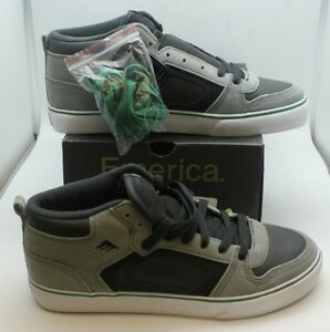 NIB Emerica Francis Grey/Green Men's Skating Shoes Skater 9.5