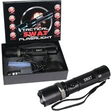 Multifunction SWAT Tactical Rechargeable Flashlight CREE LED 120 Lumens Black