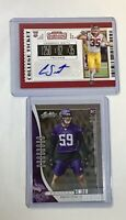 Cameron Smith 2019 Contenders Auto and 2019 Absolute USC Minnesota Vikings