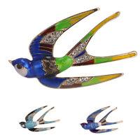 Women Cute Crystal Rhinestone Bird Animal Bouquet Brooch Pin Charm Jewelry