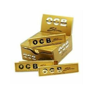 1 5 10 25 50 OCB GOLD Slim Premium One King Size Rolling Smoking Papers Genuine