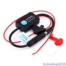 12V CAR TRUCK STEREO ANTENNA FM AM RADIO INLINE SIGNAL AMP AMPLIFIER BOOSTER NEW