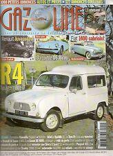 GAZOLINE 142 RENAULT JUVAQUATRE R4 FOURGONNETTE BARQUETTE DS RICOU FIAT 1400 CAB