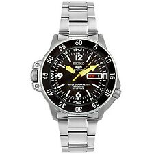 Seiko Men's SKZ211K1 Five Sports Stainless Steel Automatic Watch SKZ211