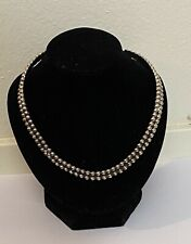 Modernist Choker Collar Necklace Vintage Sterling Silver Mexico Tp-115