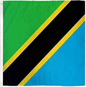 Best Flags Tanzania 3x5ft Poly Flag, Multicolor Polyester National Flag Grommets