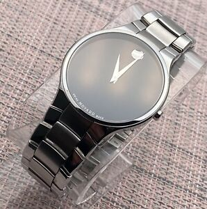 Swiss Movado Serio, Black Dial, Stainless Steel Model # 0606382 Men's Watch