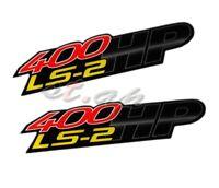 2X 400 Hp Ls2 Bumper Hood Trunk Fender Emblem Decal Sticker Badge 3D Jdm Logo