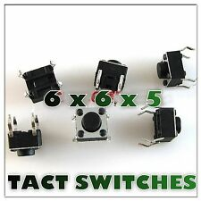 20PCS X TACT SWITCH  6X6X5 Tactile Switch Microswitch Push button Square Knobs