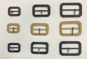 Leather Buckle, 3 Sizes (25mm - 40mm - 50mm), 3 Colours (Black, Brown, Beige)
