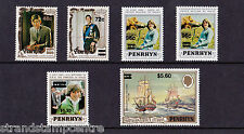 Penrhyn - 1983 Surcharges - U/M - SG 314-19