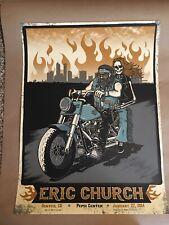 2014 ERIC CHURCH Concert Poster Pepsi Center Denver Colorado Co AP Screen Print