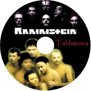 RAMMSTEIN BASS & GUITAR TAB CD TABLATURE GREATEST HITS BEST OF METAL MUSIC AUDIO