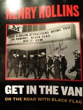 HENRY ROLLINS POSTER Signed By Rollins On The Road With Black Flag Ramones