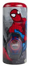 NEW CHILDRENS MARVEL SPIDERMAN CHARACTER DIGITAL WRIST WATCH AND MONEY BOX TIN