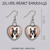 BORDER COLLIE DOG Black and White Ornate HEART PENDANT Tibetan Silver