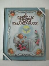 A CATHOLIC BABY'S BIRTH RECORD MEMORY BOOK JOURNAL NEW & BOXED FREE SHIP