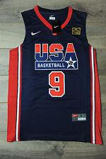 Michael Jordan #9 Team USA Jersey nuevo sueño equipo olímpico Clásico Navy 1992