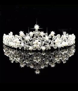 💍 Hochzeit Damen Krone Diadem Kinder Party Strass Haarreif Braut Haarschmuck 💍