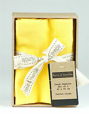 Napkins set of 4 New Yellow 100% Indian cotton serviettes from Raine & Humble