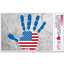 Aufkleber A4 - USA - Hand - Fahne bumper sticker car flag Flagge mano Amerika