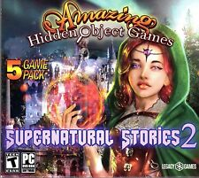 SUPERNATURAL STORIES 2 Amazing Hidden Object Games 5 PACK PC Game NEW
