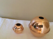 """New listing Set Of 2 Polished Copper Balls For A Weathervane - 4"""" And 2 1/4"""""""